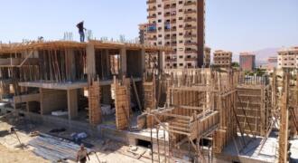 شقة أرضية مع حديقة في ضاحية قدسيا مشروع خاص حديث قيد الإنشاء للبيع